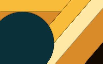 полосы, абстракция, линии, геометрия, круг