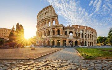 италия, архитектура, колизей, рим, история, амфитеатр