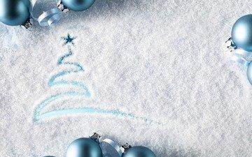 снег, новый год, рождество, ёлочка