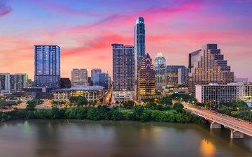 bridge, the city, usa, texas, austin