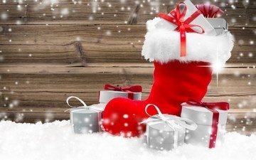 новый год, подарки, рождество, сапог, башмак