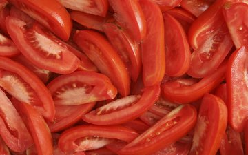 vegetables, slices, tomatoes