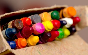 colorful, pencils, colored, crayons