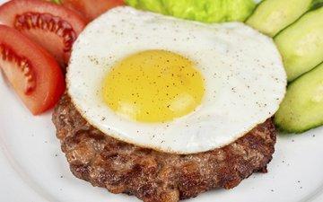 овощи, мясо, помидоры, яйцо, огурцы, стейк, ruslan olinchuk