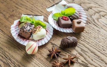 candy, chocolate, dessert, star anise, chocolates