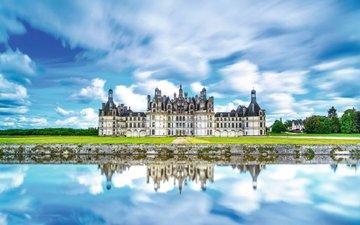 замок, франция, chateau de chambord, шато, шамбор