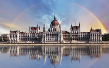 радуга, дворец, венгрия, будапешт, tomassereda