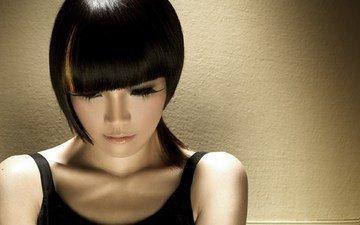 girl, background, hair, face, asian, eyelashes