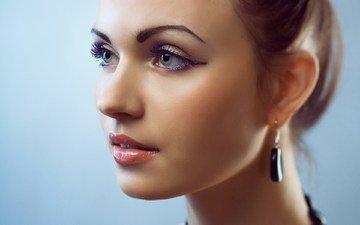 глаза, девушка, портрет, взгляд, модель, волосы, губы, лицо