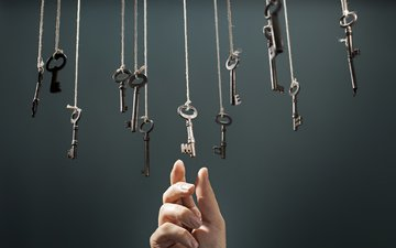 hand, background, fingers, rope, keys