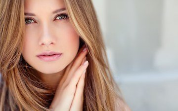 глаза, девушка, портрет, взгляд, модель, волосы, лицо, руки