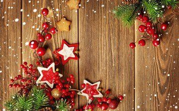 новый год, звезды, рождество, елочные украшения