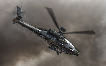 helicopter, apache