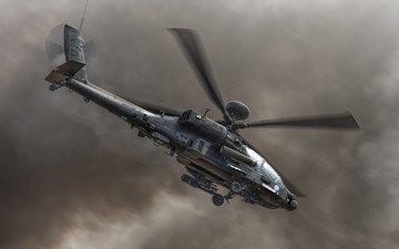 вертолет, апачи