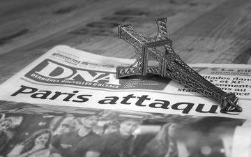 париж, газета, эйфелева башня, новости, сувенир, теракт, quentin klein, 13 ноября