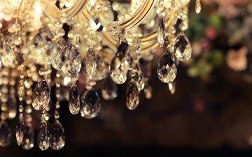 chandelier, crystal, suspension
