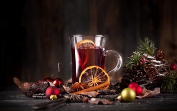 new year, drink, christmas, mulled wine