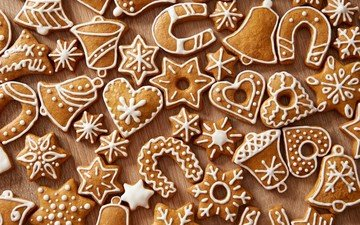 christmas, sweet, cookies, cakes, dessert