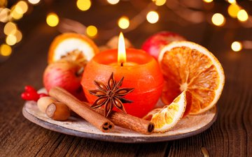 new year, cinnamon, oranges, candle, christmas, spices, sabine dietrich