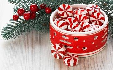 новый год, конфеты, рождество, леденцы