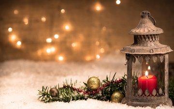 новый год, украшения, фонарь, рождество