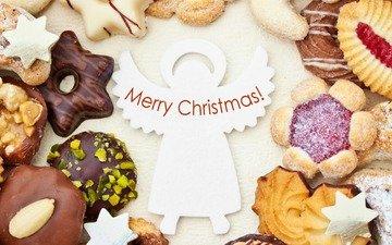 орехи, джем, рождество, шоколад, сладкое, печенье, выпечка, десерт, глазурь