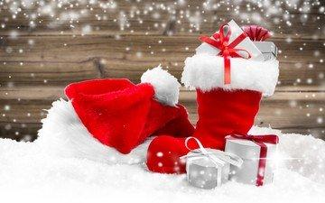 новый год, подарки, рождество, сапог