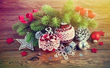 новый год, елка, рождество, елочные игрушки