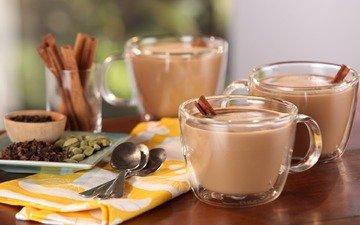 cinnamon, coffee, cup, latte