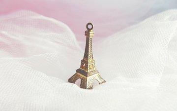 статуэтка, ткань, эйфелева башня, сувенир
