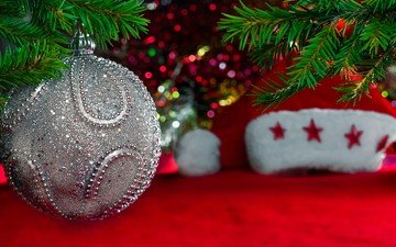 новый год, елка, украшения, шар, рождество