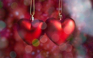 новый год, украшения, любовь, рождество, сердечки