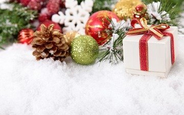 new year, gift, christmas, christmas decorations