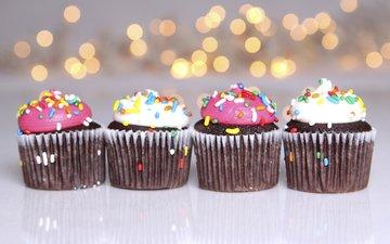сладкое, десерт, кексы