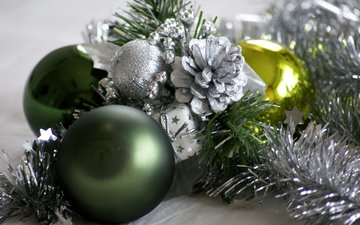 das neue jahr, kugeln, weihnachten, christbaumschmuck