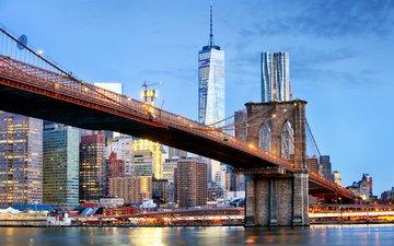 мост, город, мегаполис, сша, нью йорк, бруклин, tomassereda