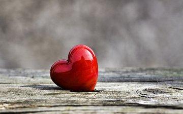 сердечко, сердце, любовь, деревянная поверхность