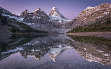 lake, mountains, nature, winter, reflection, landscape