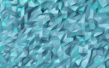 абстракция, цвет, форма, треугольники, симметрия