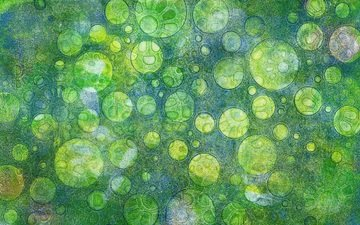 abstraction, green, pattern, color, form, circles