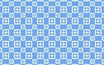 flowers, design, pattern, color, form, squares