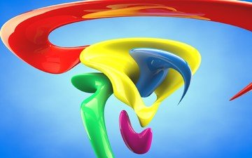 color, form, graphics, 3d