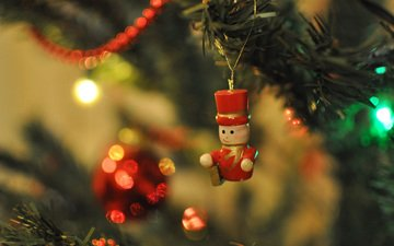new year, tree, decoration, toy, christmas, figure