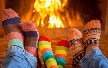 mood, fire, feet, fireplace, family, socks