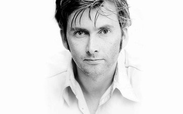 look, black and white, actor, face, male, monochrome, david tennant