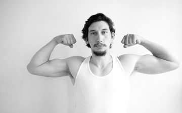 look, black and white, actor, face, adam driver