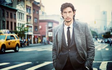 look, actor, street, face, male, adam driver