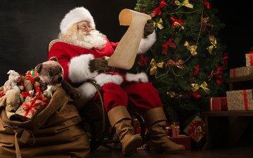 new year, tree, gifts, santa claus, christmas, santa, kirill kedrinskiy