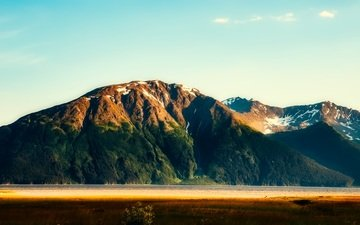 mountains, nature, landscape, alaska
