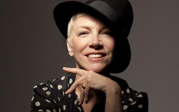 girl, background, smile, face, hat, celebrity, annie lennox